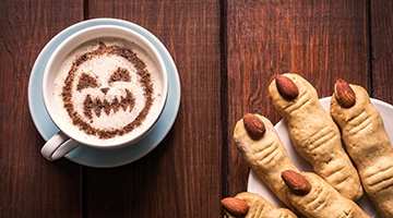 It's spooky how some coffee shops don't do happy hour at Halloween