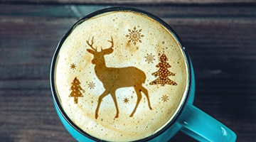 Top tips for festive latte art