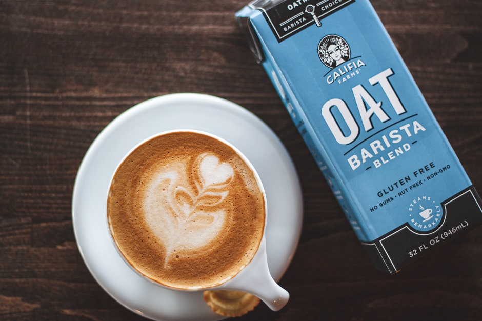 oat milk and barista oat milk carton